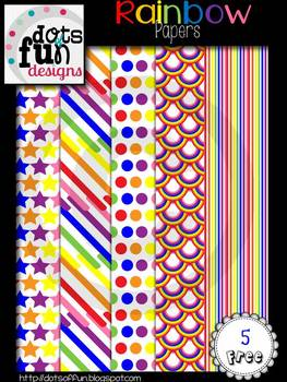 Rainbow Papers ~Dots of Fun Designs~