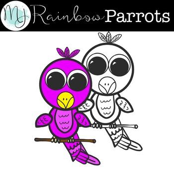 Rainbow Parrots Clipart