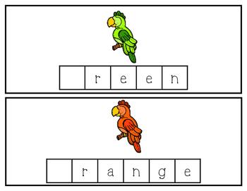 Rainbow Parrots Tile Cards