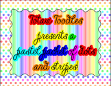 Rainbow Pastel Colors * Mega Packet * Backgrounds, Borders, Labels