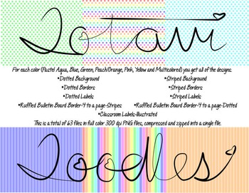 Rainbow Pastel Colors * Mega Packet * Backgrounds, Borders, Labels