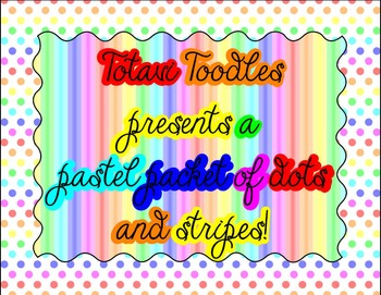 Rainbow Pastel Colors * Mega Packet * Backgrounds, Borders