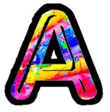 Rainbow Pastel Letters for Clipart or Bulletin Boards