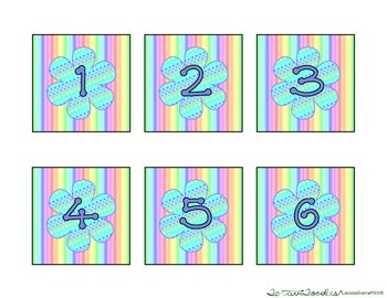 Rainbow Pastel Stripes * Dots Calendar Kit * Shapes * Weather