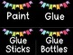 Rainbow Pattern Banner Room and Supply Label Cards (Over 250+ Labels!)