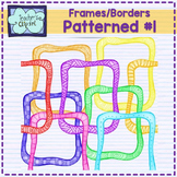Rainbow Patterned frames #1 - borders clipart- Teacher's Clipart