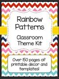 Rainbow Patterns Classroom Theme Kit with Editable File