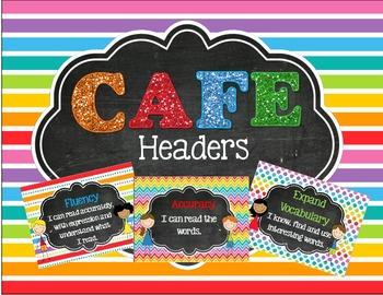 Rainbow, Patterns & Glitter CAFE Headers