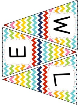 Rainbow Patterns Welcome Banners