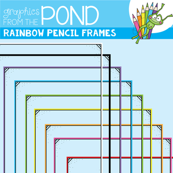 Rainbow Pencil Frames