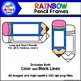 Rainbow Pencil Frames Clip Art Set - Doodle Patch Designs