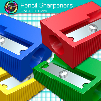 Rainbow Pencil Sharpener Clip Art {Back to School Supplies for Classroom Decor}