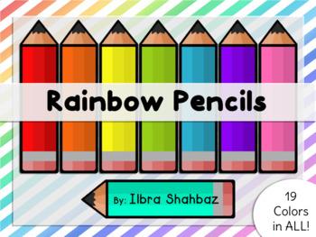 Rainbow Pencils Clipart