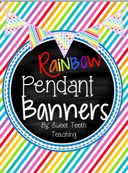 Rainbow Pendant Banners