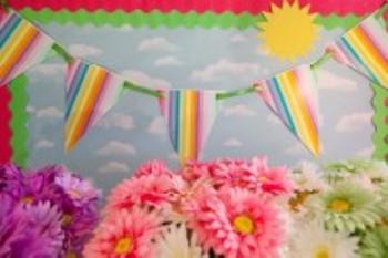 Classroom Decor Rainbow Pennant Banner