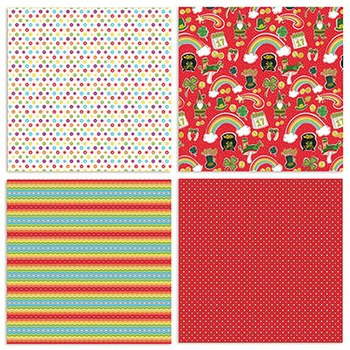 Rainbow Penny Digital Papers - Patterned, UnTextured - Saint Patty's Day