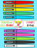 Rainbow Pens Clipart Freebie (Happy Teacher Appreciation)