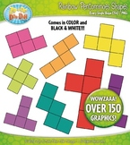 Rainbow Pentominoes Shapes Clipart {Zip-A-Dee-Doo-Dah Designs}