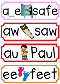 Rainbow Phonics Posters {Bundled}