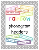 Rainbow Phonogram {Vowel Combination} Posters