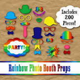 Rainbow Photo Booth Props and Decorations - Printable