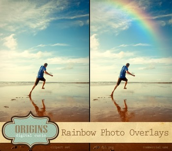 Rainbow Photo Overlays Rainbow png photograph photoshop digital light effects