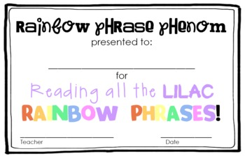 Rainbow Phrases: A High Frequency Phrases Learning & Assessment System