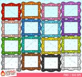 Rainbow Picture Frames Clip Art