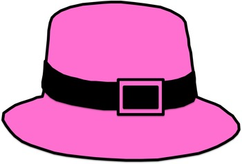 Rainbow Pilgrim Hats Clip Art