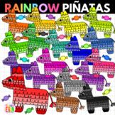 Rainbow Pinatas and Candy Clipart Piñatas