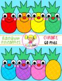Rainbow Pineapples Clipart