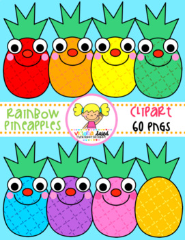 Rainbow Pineapples Clipart