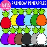 Rainbow Pineapples- Digital Clipart