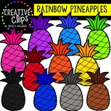 Rainbow Pineapples: Summer Clipart {Creative Clips Clipart}