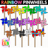 Rainbow Pinwheels Clipart