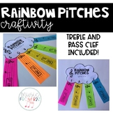 Rainbow Pitches Craftivity-Treble and Bass Clef