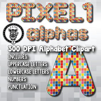 Rainbow Pixels Alpha Clip Art