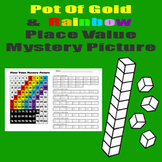 Rainbow Place Value Math Mystery Picture - 11x17 - St. Patrick's Day