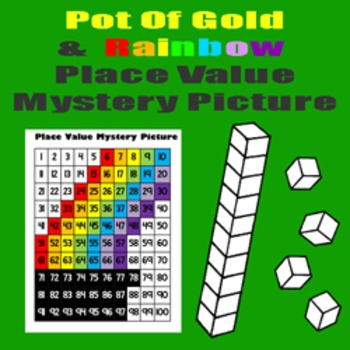 Rainbow Place Value Math Mystery Picture - 8.5x11 - St. Patrick's Day