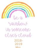 Rainbow Planner 2018-2019