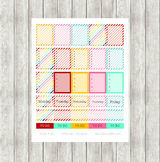 Rainbow Planner Sticker Printable