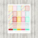 Rainbow Planner Sticker Printable