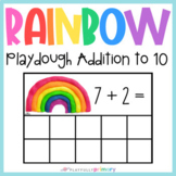Rainbow Playdough Addition Frames | Addition to 10