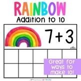 Rainbow Playdough Addition Ten Frames   Adding Numbers to 10