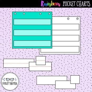 Rainbow Pocket Chart Clipart