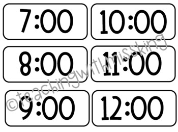Rainbow Pocket Chart Schedule Cards - EDITABLE