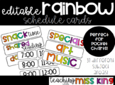 Rainbow Pocket Chart Schedule Cards - EDITABLE