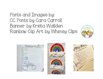 Rainbow Poetry Craftivity Freebie