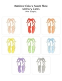 Rainbow Pointe Shoe Bilingual French/English Ballet Colors