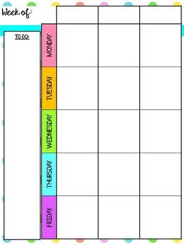Rainbow Polka Dot 2018-2019 Teacher Planner